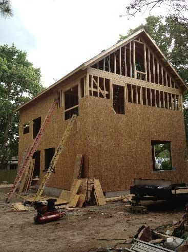 framing of two story home
